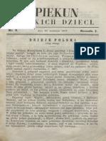 Opiekun Polskich Dzieci. R.1, Nr 8 (16 Września 1867)