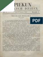 Opiekun Polskich Dzieci. R.1, Nr 7 (9 Września 1867)