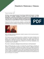 Entrevista a Humberto Maturana y Ximena Dávila Cordoba Mayo 2017