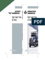 2009 Mack Granite Series (GU) Operator's Manual