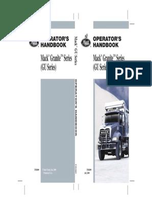 2009 Mack Granite Series (GU) Operator's Manual   Internal