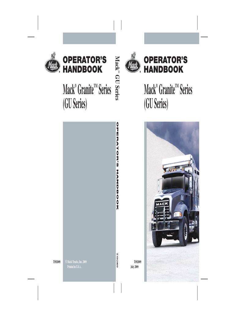 2009 Mack Granite Series (GU) Operator\'s Manual | Internal ...