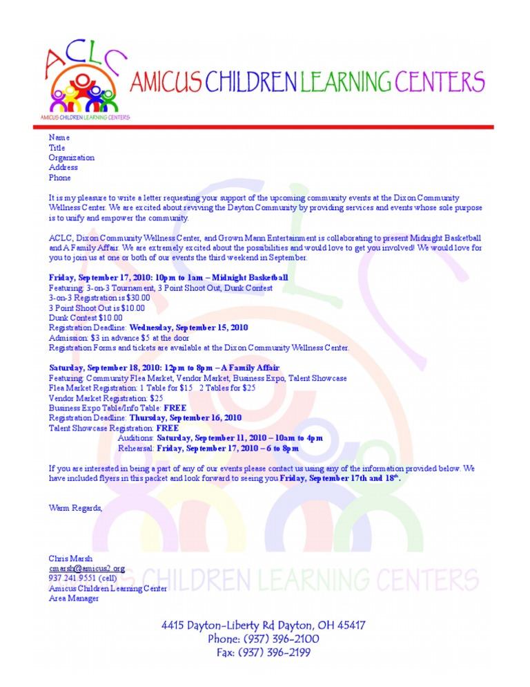 Sample Letter Invitation Competition.  Participation Request Letter