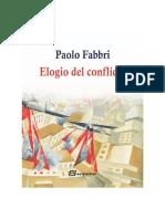 Elogio del conflicto, Paolo Fabbri