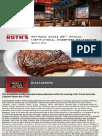RUTH Investor Update - Raymond James March 2017 presentation ppt pdf