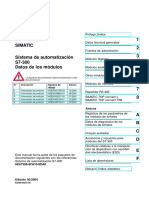 Sistema de Automatización-S7-300 Datos Modulos