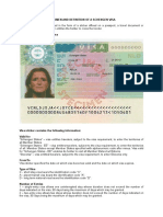 Specimen and Definition of Visa En