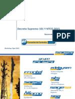 Decreto Supremo 101 y NTCO 2015