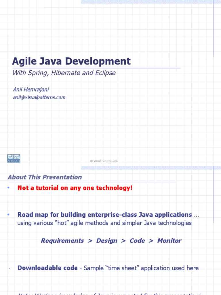 Java role in the development of the internet of things codespring - Agile Java Dev With Spring Hibernate Eclipse Eclipse Software Scrum Software Development