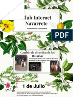 Informe Cuatrimestral de Navarrete