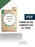 Fabricas de cemento en Perú.