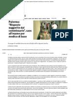 """2017 27 OTTOBRE COMMISSARIO ODDO GIOACCHINO Risposte Suggerite Dal Commissario"""", Caos All'Esame Per Medico Di Base - Repubblica"""