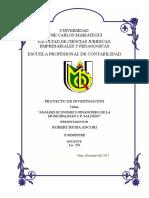 Proyecto de Investigacion Analisis Económico Financiero de La Municipalidad CP Salcedo
