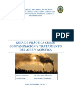 Guía de Práctica Del Curso Contaminación y Tratamiento de Aire y Acustica