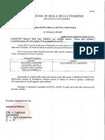 2017 21 Settembre Bologna Sindaco Maggiore Croce Delibera 119 Nulla Osta Sandro d'Arpa Comune Di Cinisi Delib 135 g.g. 19 10 16