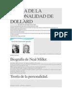 Teoría de La Personalidad de Dollard