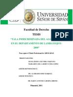 Tala Indiscriminada en El Departamento de Lambayeque