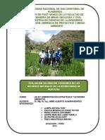 Valoración Económica Huascaura