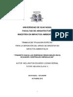 Energias Renovables en El Ecuador (1)