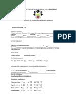 Ficha Del Observador Del Alumno