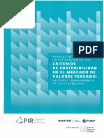 Informe PIR - Criterios de Sostenibilidad