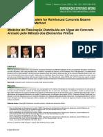Modelos de Fissuração Distribuída em Vigas de Concreto Armado pelo Método dos Elementos Finitos