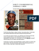 baseball card project