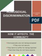 homosexual discrimimnation