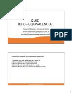 ibfc-equivalarncia - SIMULADO