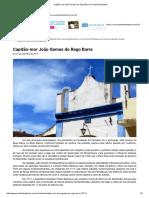Capitão-mor João Gomes Do Rego Barra _ Portal Entretextos
