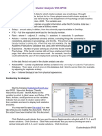 Cluster Analysis Using SPSS