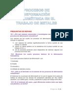 Procesos de Deformación Volumétrica en El Trabajo de Metales