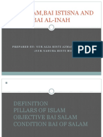 Bai Salam,Bai Istisna and Bai Al-Inah (Yayasuha)