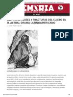 Luchas de Clases y Fracturas Del Sujeto
