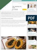 Beneficios de Comer Papaya en Ayunas Todos Los Días _ Salud
