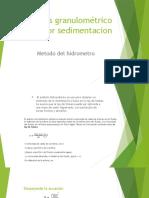 Analisis Granulometrico Por Sedimentacion