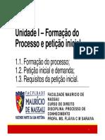 Unidade I Forma o Do Processo e Peti o Inicial AULA 01