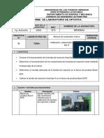 Informe de Calibracion y Desarmado de La Bomba Tipo A