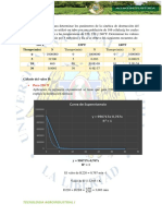 En Un Estudio Para Determinar Los Parámetros de La Cinética de Destrucción Del Bacillus Cereus