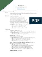 teets - resume pdf