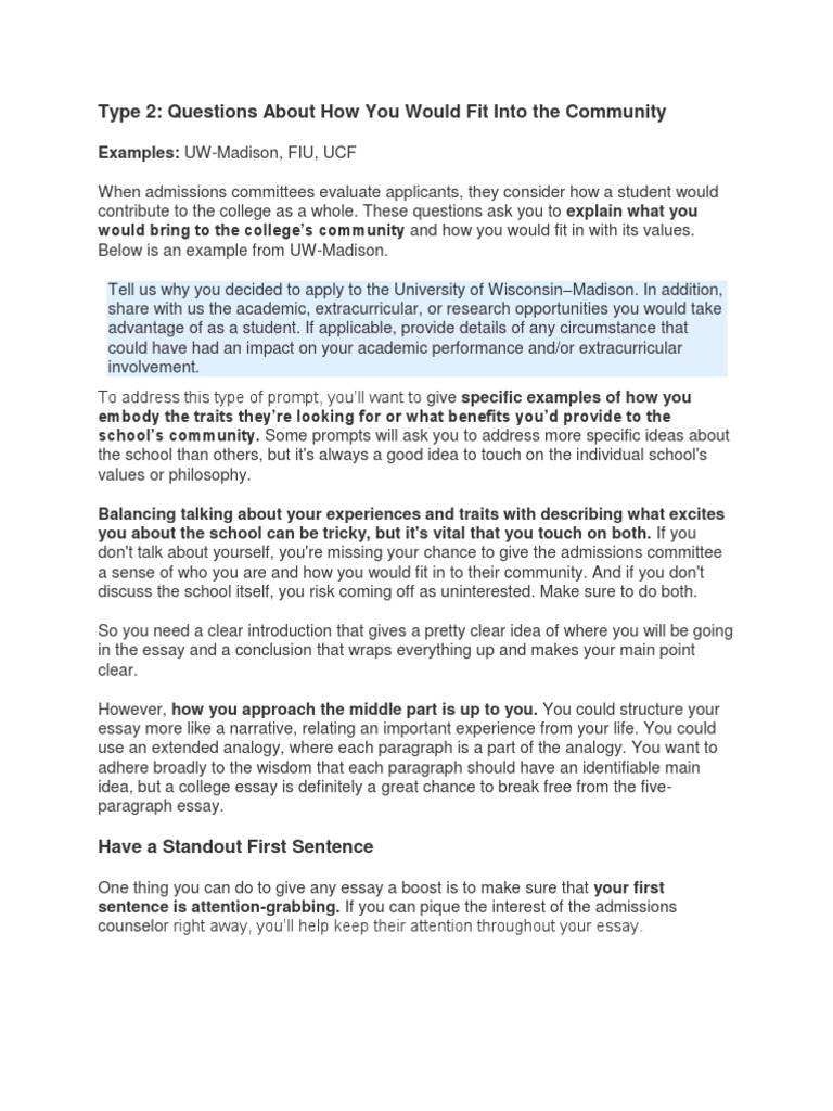 Uw madison application essay help