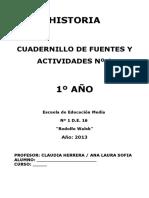 cuadernillo 1° año para 2013