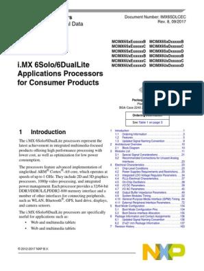 IMX6SDLCEC   Arm Architecture   Central Processing Unit