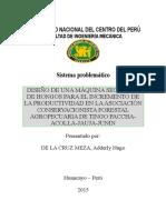 Diseño de Una Máquina Secadora de Hongos Para El Incremento de La Productividad en La Asociación Conservacionista Forestal Agropecuaria de Tingo Paccha Acolla Jauja Junin