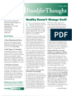 KLF Newsletter Food for Thought October 2008