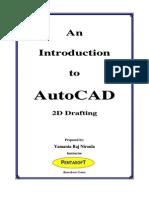 Yamanta's AutoCAD Manual(2D Drafting)