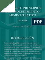 Las Bases o Principios Del Procedimiento Administrativo