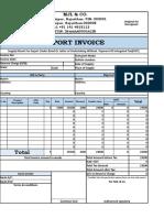 Export Invoice