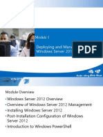 1 Deploying and Managing Windows Server 2012 Windows Server 2012 Overview(1)