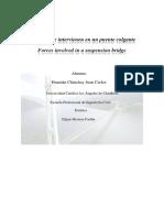 Fuerzas Que Intervienen en Un Puente Colgante _FINAL